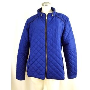 Active USA Size 2X Blue Quilted Jacket